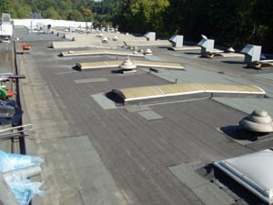 Image- Roof renovation flat roof - before